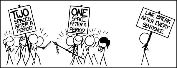 xkcd: One space or two