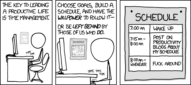 Time Management from xkcd
