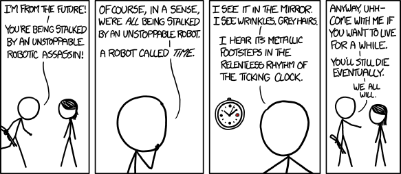 Time robots -- cartoon by xkcd