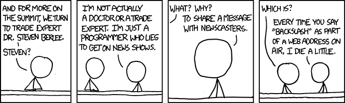 XKCD Comic titled Trade Expert