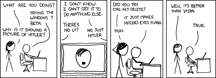 Thumb XKCD: Windows 7 y Hitler