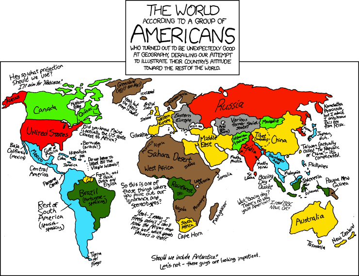 XKCD map of the world