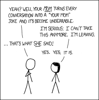 xkcd: Your Mom