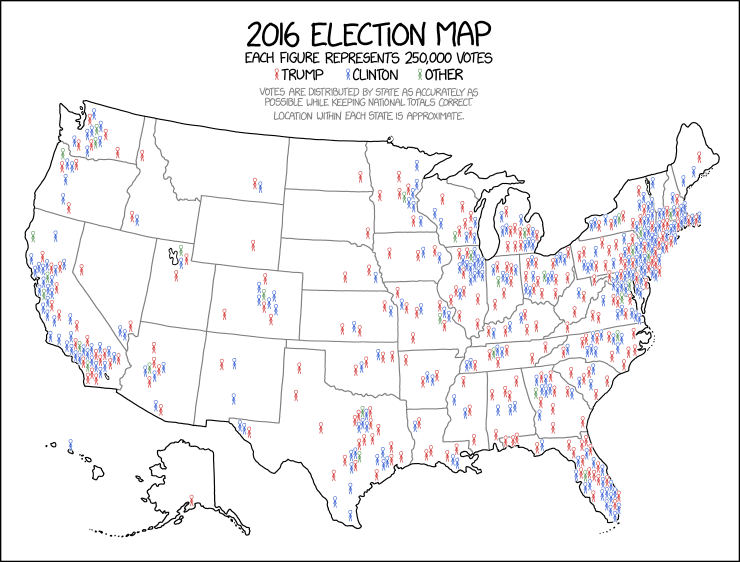 This 2016 map tweeted by Donald Trump is hugely misleading ...