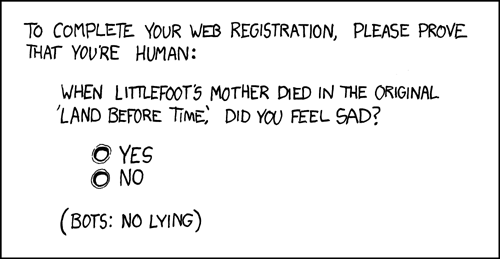 XKCD: A new CAPTCHA approach