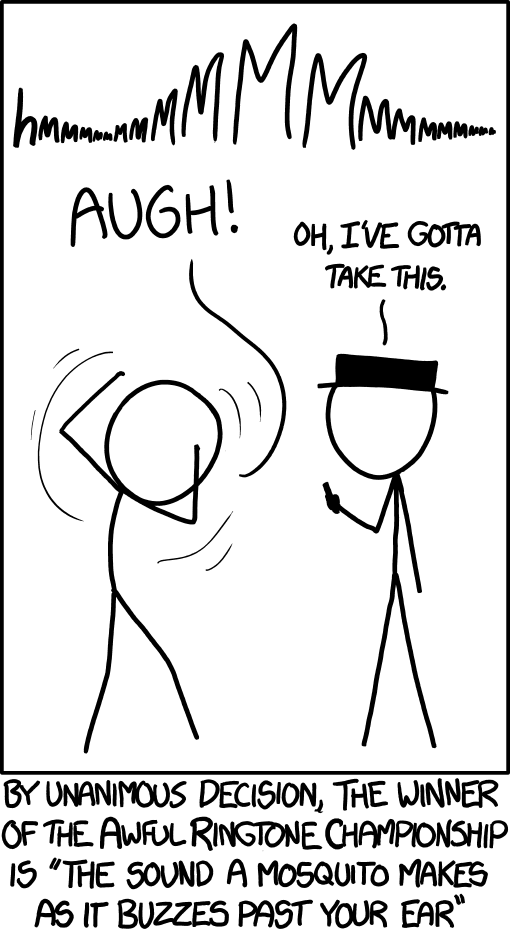 xkcd: Annoying Ringtone Champion