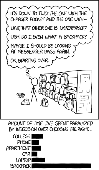 backpack decisions xkcd