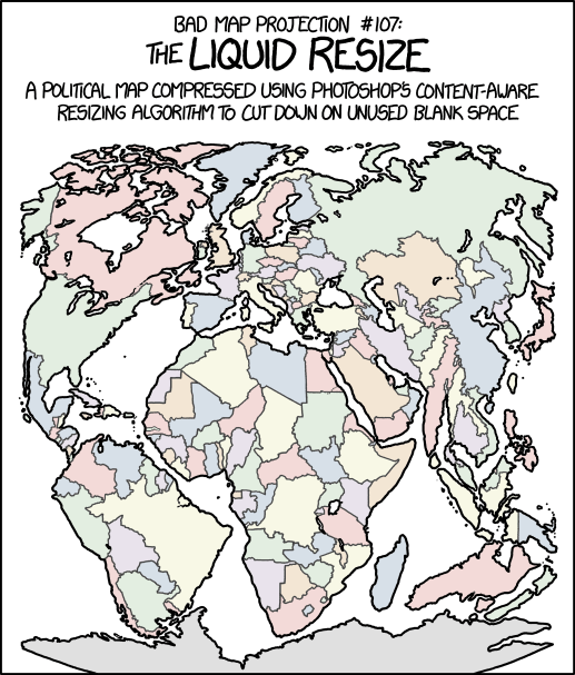 Xkcd bad map projection liquid resize gumiabroncs Image collections