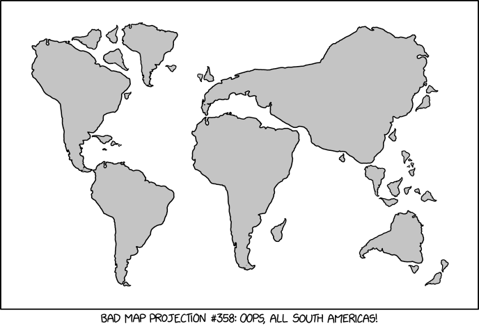 Bad Map Projection: South America