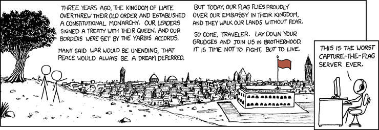 Borders | This is The Worst Capture-The-Flag Server Ever. [COMIC]</code>