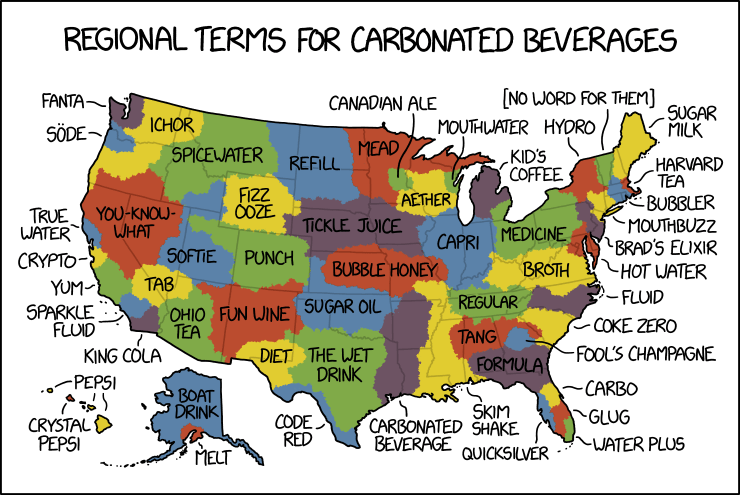 Carbonated Beverage Language Map
