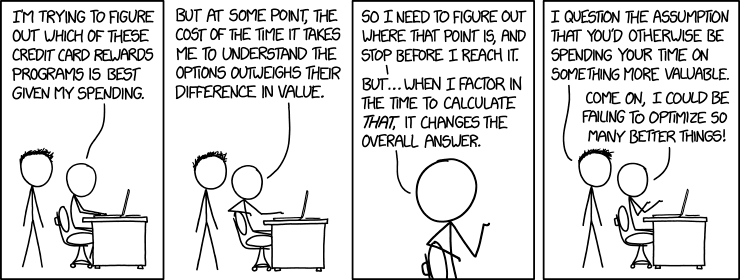 XKCD on Credit Card Rewards