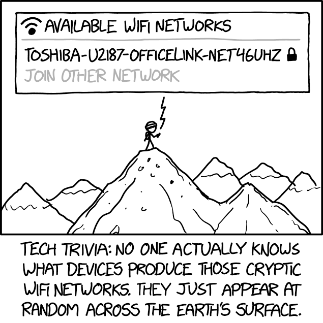 xkcd: Cryptic Wifi Networks