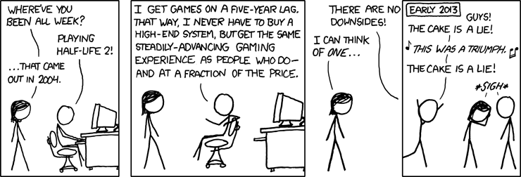 Image result for xkcd comic waiting years to play video games