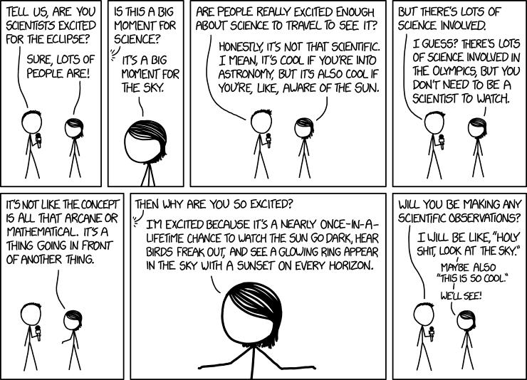 Eclipse science cartoon