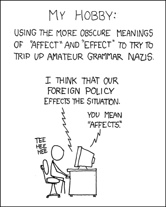 Effect an effect from xkcd.com