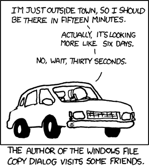XKCD image representative of the accuracy of our own estimates?