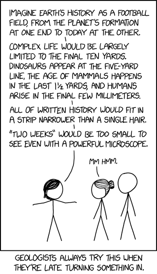 xkcd: Geologic Time