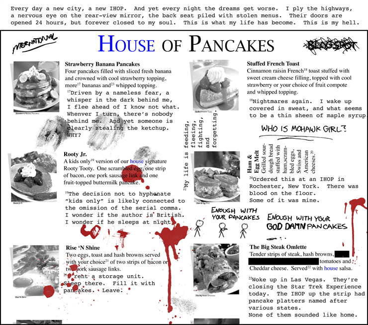 "<span style=""color: #0000ED"">House</span> of Pancakes"
