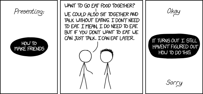 How to Make Friends : XKCD