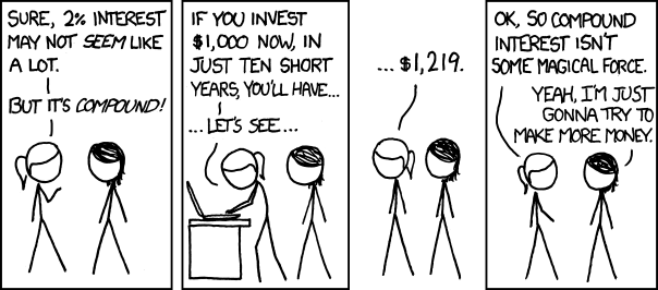 XKCD cartoon about compound interest