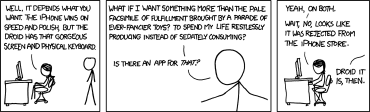 iPhone vs Droid xkcd comic