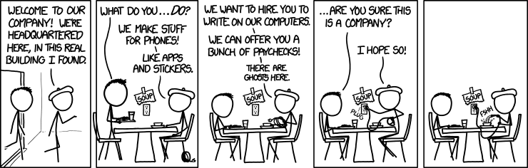 Image shamelessly borrowed from XKCD
