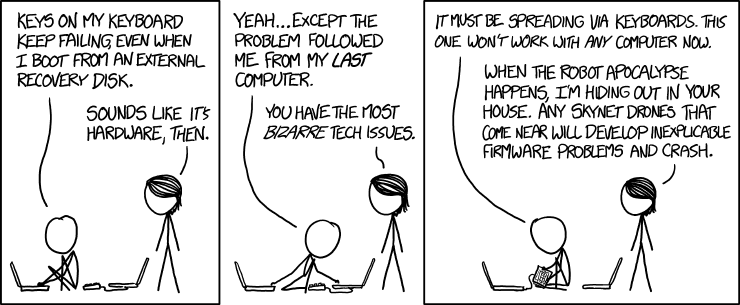 xkcd: Keyboard Problems