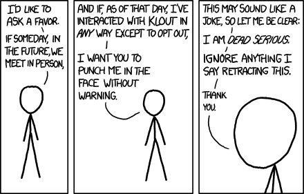 XKCD on Clout