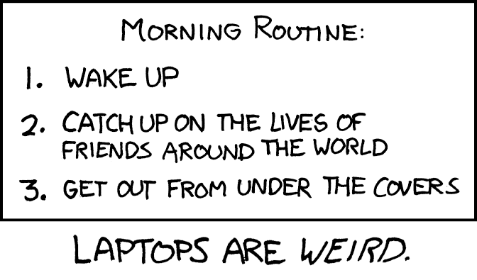 xkcd  morning routine