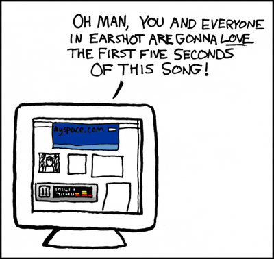 XKCD Comic: Myspace