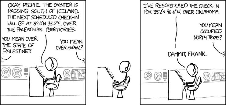xkcd on the Orbiter