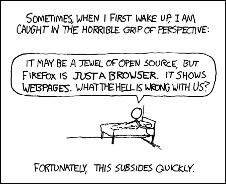 xkcd comic about perspective