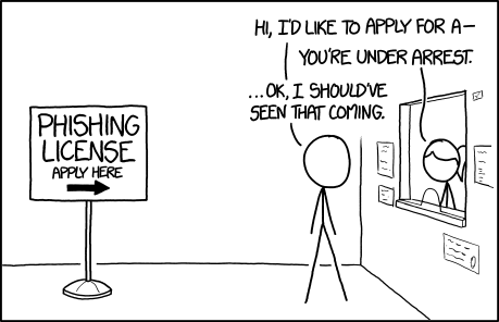 XKCD humor: Phishing License