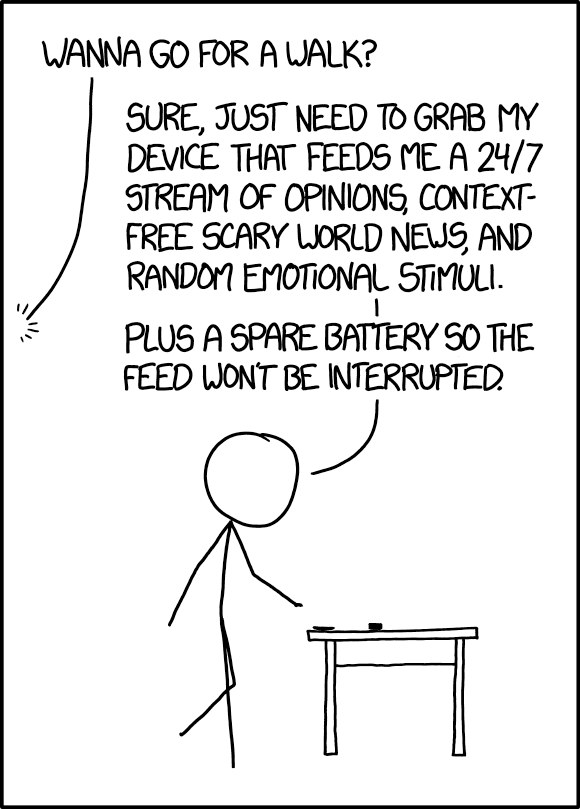 XKCD on carrying spare phone battery to never be disconnected