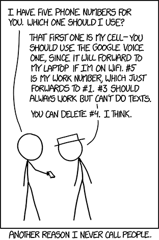 xkcd - I have five phone numbers which should I use