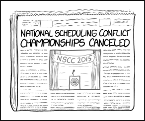 xkcd: Scheduling Conflict