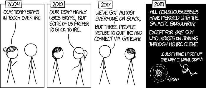 XKCD comic about using old software configured for you