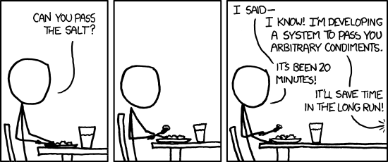 Can you pass the salt. XKCD comic