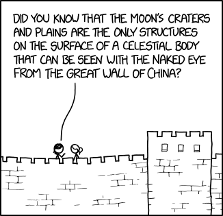 The Moon and the Great Wall