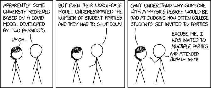 I admit this is an exaggeration, since I can think of at least three parties I attended while doing my degree, and I'm probably forgetting several more.