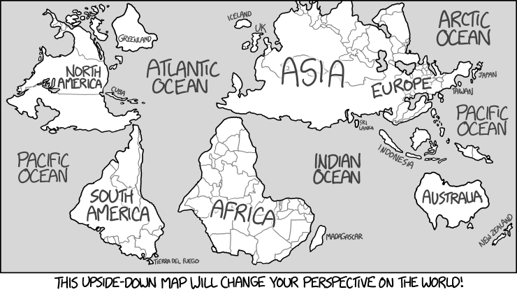 xkcd: Upside Down Map