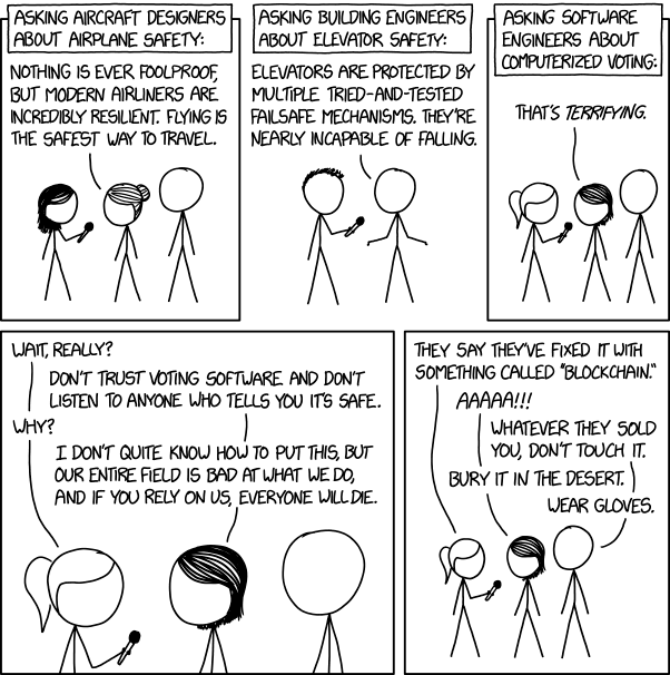 XKCD on voting software