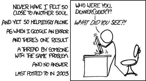 Wisdom of the Ancients, XKCD 979