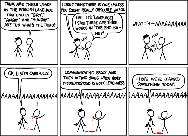 An xkcd comic about poor communication