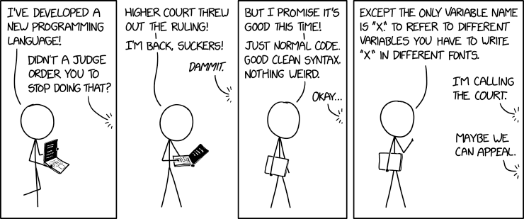 XKCD 2309: X, License: CC BY-NC 2.5