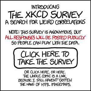 xkcd survey and the power to shape the internet